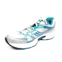 Saucony Cohesion 6 Womens Running Shoes Size 7.5 Blue White Athletic - $22.48