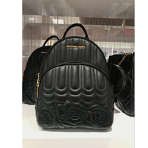 81f45a835cfb MICHAEL KORS ABBEY MEDIUM quilted BACKPACK LEATHER black NWT -  169.00