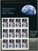 USPS Scott 2841 Sheet Stamps MNH 1994 25th Anniversary Moon Landing Spac... - $14.87