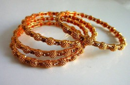 Indian Ethnic 4 PS Gold Plated Ball Designer Wedding Fashion Jewelry Ban... - $16.45
