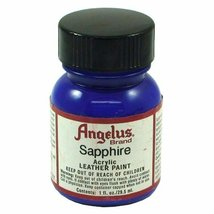 Angelus Brand Acrylic Leather Paint - Sapphire 1 fl.oz - $6.76