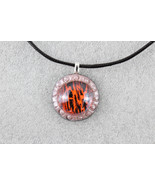 Elegant Handmade Cabochon & Premo Clay Pendant Necklace + Cord & Extensi... - $1.93