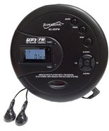 Supersonic SC253FM Personal MP3/CD Player with FM Radio - $43.14