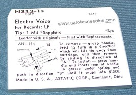 Astatic N313-1s NEEDLE for Electro-Voice, EV 122 Sonotone 3P-1S 360-D1 S1 image 2