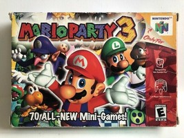 Mario Party 3 (Nintendo 64, 2001) Complete in Box, N64, USA SELLER - $80.61