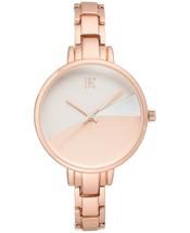 I.N.C. Women's Rose Gold Tone 36mm Bracelet Art Deco Style Geometric Watch NEW