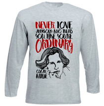 Oscar Wilde Ordinary Quote - New Cotton Grey Tshirt - $26.60