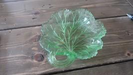 Vintage Depression Uranium Vaseline Leaf Candy ... - $19.00