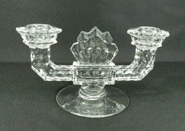 "Vintage Fostoria American Double Taper Candle Holder 8.5"" W - $11.87"