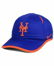 NEW! NIKE Unisex New York Mets MLB Golf/Running Featherlight Cap-Blue/Or... - $42.21