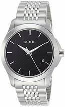 Gucci YA126480 Silver Man's Watch Quartz G-timeless Black Dial FREEshipW... - $583.93