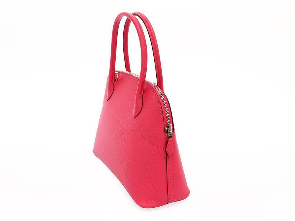 HERMES Bolide 27 Epsom Rose Extreme #D Handbag Shoulder Bag Authentic 5554645