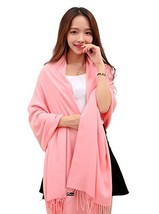 Anboor Super Soft Cashmere Blanket Scarf with Tassel Solid Color Warm Sh... - $10.92