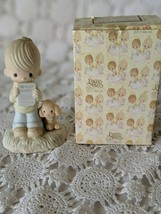 Enesco Precious Moments Boy With Report Card Figure 1978 - $9.69