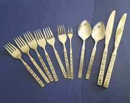 Oneida Distinction Stainless Steel Flatware LISBON 10 Piece Mixed Lot image 1