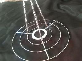 5Pcs 3-Tiered Chrome Round Hanger Centerpiece Chandelier Wedding Christm... - $35.52