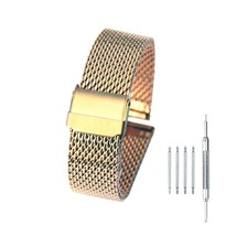 18mm Stainless Steel Mesh Watch Band Bracelet Strap Replacement Wristband with D - $31.91