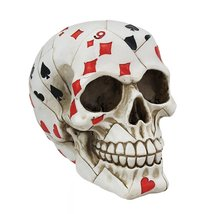 Things2Die4 Playing Card Poker Skull Figure - $14.84