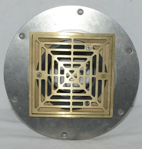 Sioux Chief Halo Adjustable Floor Drain With Deck Flange  Hub Connection