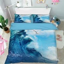3D Blue Waves Sky 26 Bed Pillowcases Quilt Duvet Single Queen King US Lemon - $102.84+