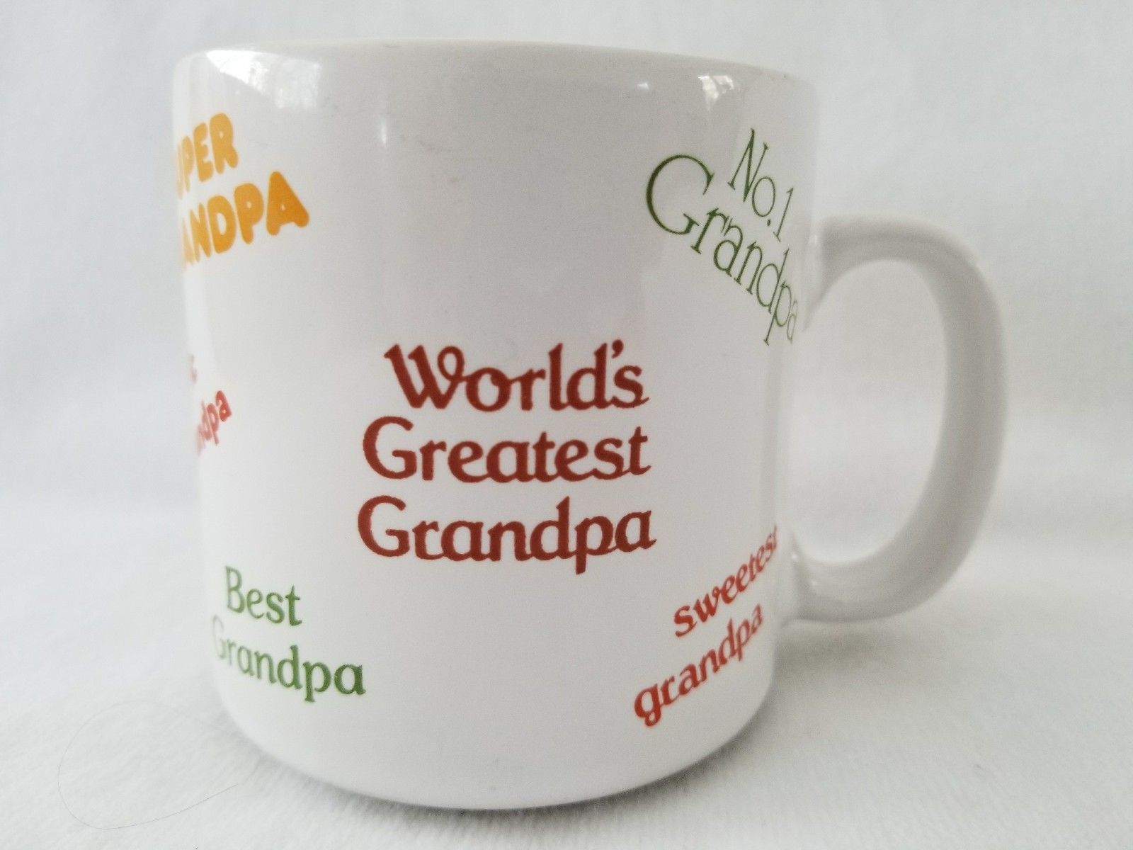 Primary image for World's Greatest Best Sweetest Grandpa Coffee Mug Tea Cup by Russ Berrie 8061