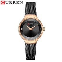 Elegant Women Watches CURREN Fashion Quartz Stainless Steel Mesh Watch Female Si - $41.56