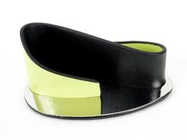 Business Card Holder, Art Deco Wave Design, Lime Green & Black, Sweda #D... - $8.77