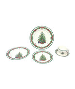 Vintage Christmas Dishes Dinnerware-Five Pieces - $585.00