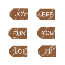 Word Cut-Out Tags Digital File.  SVG File.  Instant Download.  No Physical Items
