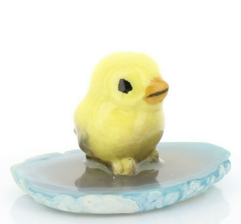 Stepping Stones Fairy Garden Miniature Baby Bird on Sliced Quartz Base #2715
