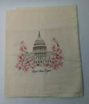 "28"" X 33"" United States Capitol Egyptian Cotton Linen Tea Towel Souvenir - $27.70"