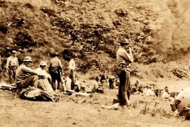 Vintage 1920's Military 3rd Engineers Photo Machine Gun Training Fort Ho... - $28.47