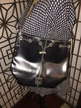 VINTAGE Dooney & Bourke Bucket Shoulder Bag Purse Silver Hardware Tote Black - $23.38