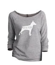 Thread Tank Miniature Pinscher Dog Silhouette Women's Slouchy 3/4 Sleeves Raglan - $24.99+