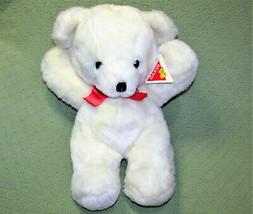 """18"""" Vintage Dakin Cuddles 1979 Big White Teddy Bear Stuffed Animal With Tags Bow - $89.10"""