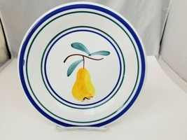 "Ceramica San Marciano Dinner Plates Set of 2 Peach & Pear Italy 9.75"" Bl... - $24.18"