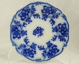Johnson Brothers Claremont Flow Blue Plate - Royal Semi Porcelain England - $19.95