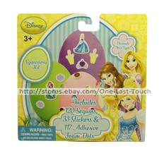 DISNEY PRINCESS* Decorating Kit EGGCESSORY Sequins+Stickers+Foam Dots EA... - $2.98