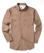 Joey CV Fishing Shirts for Men-Long Sleeve Regular Fit Outdoor Casual Bu... - $26.93