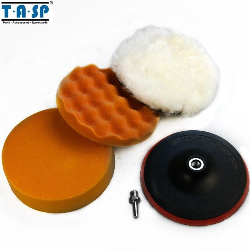 Primary image for TASP® 180mm Polishing Buffing Pad Set For Car Polisher With Drill Adaptor
