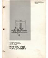 Cat M60B-M100B Vehicle Systems Test & Adjust Specs Manual (SENB8157) {D1... - $19.79