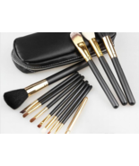 M.A.C. Professional 12 Piece Makeup Brush Set With Carrying Case - $94.00