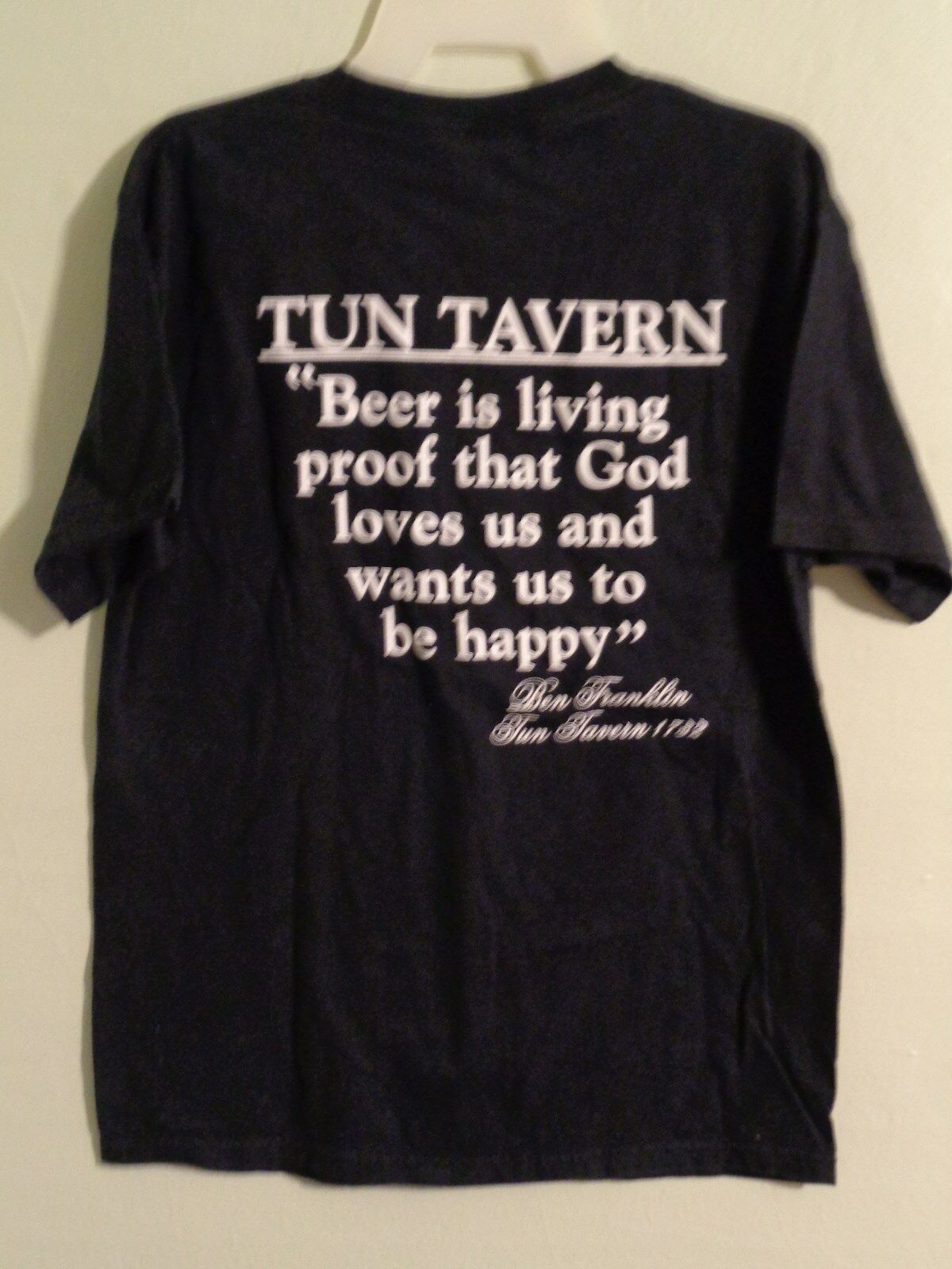 Primary image for Atlantic City T Shirt Medium Tun Tavern Brewery & Restaurant Black Beer Graphic
