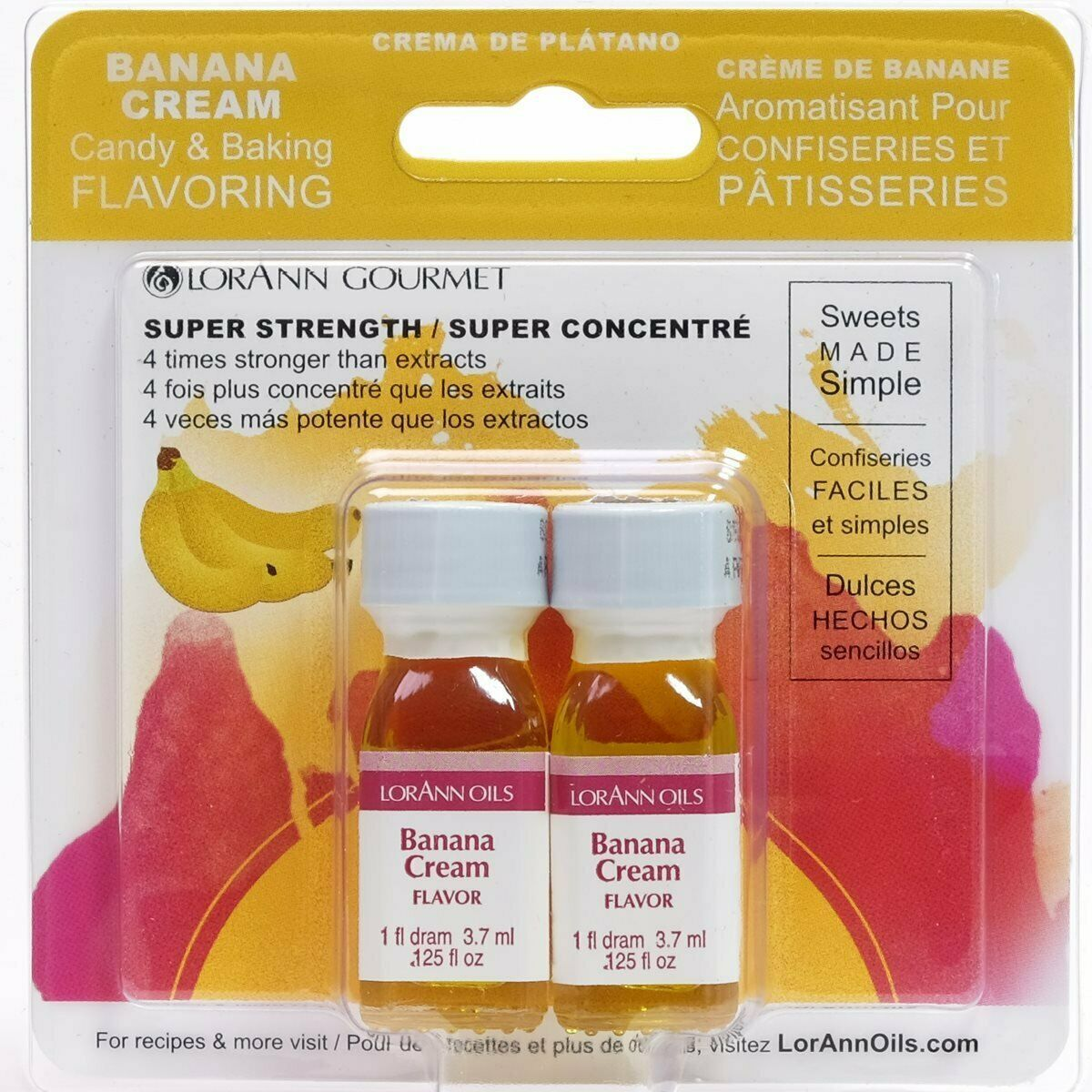 Primary image for Lorann Oils Candy and Baking Flavoring Bottle 2 Pack Drams Banana Cream