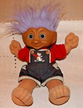 "VINTAGE SOFT BODY 12"" TREASURE TROLL TOTS DOLL WITH WISHSTONE BELLY BUTTON - $19.75"