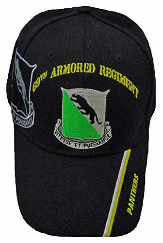 Primary image for U.S. Army 69th Armored Regiment Baseball Cap, Panthers, Black Hat Embroidered