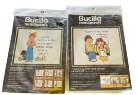 Bucilla NeedleCraft Vintage Crewel Embroidery Kit Lot of 2 NEW - $23.84