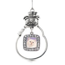 Inspired Silver Ragdoll Cat Classic Snowman Holiday Decoration Christmas... - $14.69
