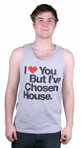 Mens I Love You But I've Chosen House Music Grey Tank Top Halter Muscle Shirt