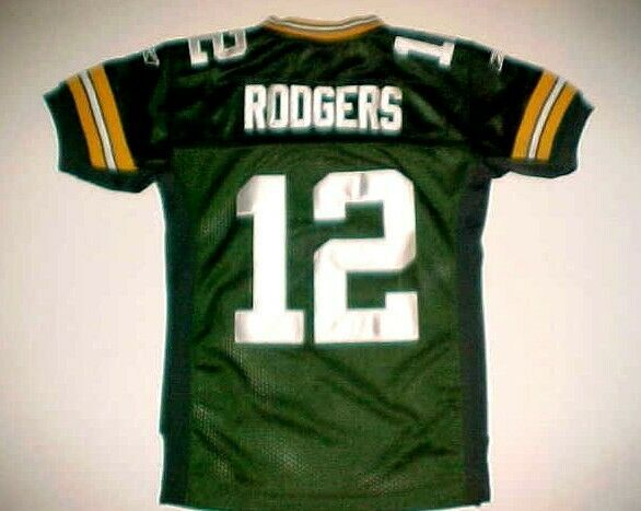 Primary image for Aaron Rodgers #12 Green Bay Packers NFL NFC Central Boys Football Jersey S/M 8
